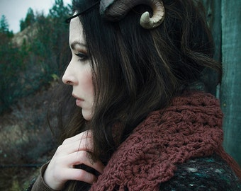 DIY Resin Ram Horns Accessory Fantasy Cosplay