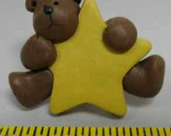 teddy bear pin/brooche