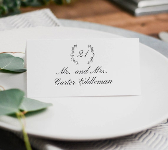 printable wedding place cards wedding place card template
