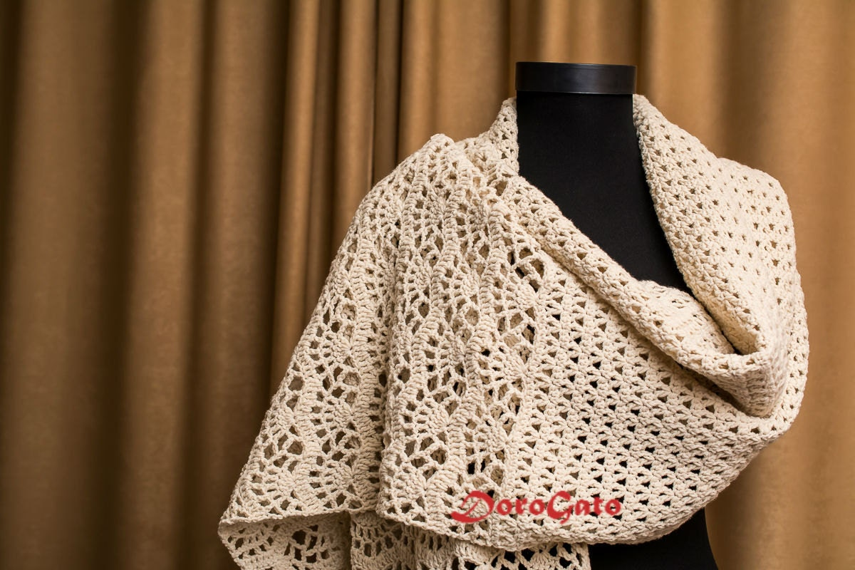Free Crochet Pattern Nursing Shawl : Crochet shawl pattern stole pattern woman shawl Crochet