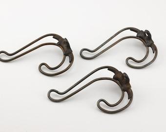 Antique Bent Wire Hooks Purches Miles Clothes Hook Set of 3
