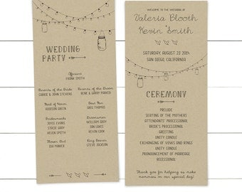 Instant Download Wedding Program Template / Editable Program / Printable Wedding Ceremony Program / Ceremony Template / Editable Wedding PDF