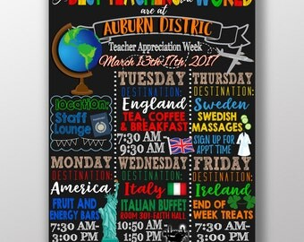Best teachers in the world theme, teacher appreciation week themes, best teachers in the world theme, teacher appreciation theme ideas