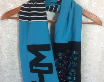 """SALE Infinity Scarf """"I Am in Him"""" Upcycle Scarf CHRISTMAS Gift"""