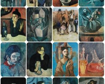 Pablo Picasso in Soviet Museums - Set of 16 Vintage Soviet Postcards - 1981. Izobrazitelnoe iskusstvo, Moscow - Fine Art Print Retro Cubism