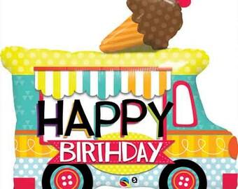 "36"" I Love Ice cream Truck balloon/  Ice Cream theme party / Ice Cream party"