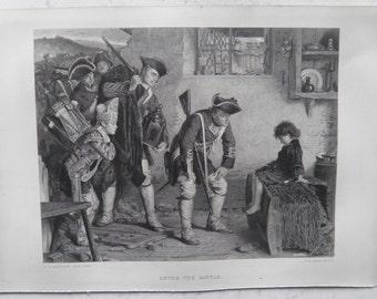 After the Battle by Philip Hermogenes Calderon Antique Print 1867 Art Journal