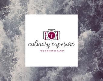 premade logo design · initial logo · camera logo · food logo · photography logo · premade branding · small business logo