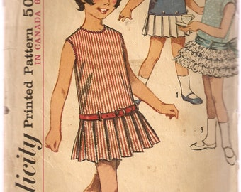 VINTAGE Simplicity Sewing Pattern 5901 - Children's Clothes - One-Piece Dress, Size 5