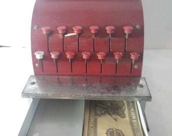 Vintage Tin Metal Toy Cash Register ~ Vintage Toy