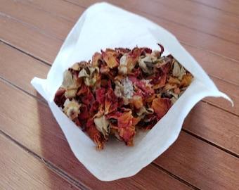 Rose Bath Tea, Organic Rose Tub Tea, Rose Bath Soak, Organic Rose Petals, Organic Rose Buds, Rose Tea, Tub Tea,  Relating Bath, Reiki Energy
