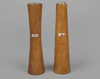 MCM Salt and Pepper Teak Set of 2 Vintage