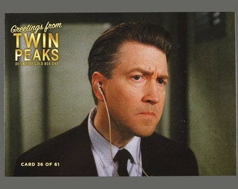 Twin Peaks Gold Box Postcard Card # 36 of 61 David Lynch Gordon Cole