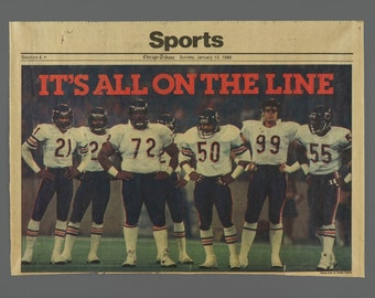 January 12 1986 Chicago Bears Tribune Sports Page Poster NFL Football Newsprint Insert