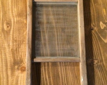 Vintage Washboard - Glass Insert