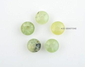 Wholesale Prehnite Loose Gemstone-Roundelle Large Hole Beads Gemstones-9x14 mm Gemstone-5pcs