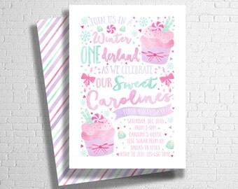 Winter Onederland Invitation | ONEderland invite | Winter Birthday | Winter Wonderland | Winter Candy Invitation | DIGITAL FILE ONLY