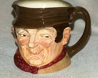 Vintage Royal Doulton Sam Weller Earthenware Large Character Jug from the Charles Dickens Characters series c.1950's D6064 (ref: H128)
