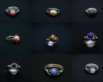 Wholesale Handmade Wire Wrapped Rings Wholesale Lot Bulk