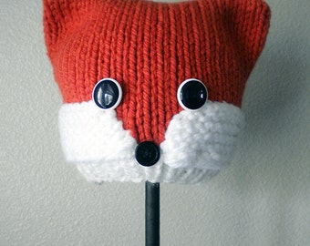 Woodland Fox Knit Hat Pattern