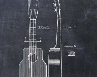 Ukulele Patent Print - Patent Art Print - Patent Poster - Music Art - Guitar