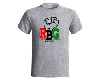 RBG -Pan African Shirt|Afrocentric Clothing|Black Pride|African Clothing|Marcus Garvey| Garveyite| Black Power Fist| Unapologetically Black