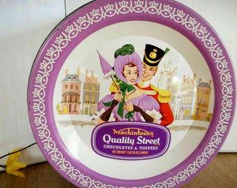 Vintage Tin, Vintage, Tin, Vintage Kitchen, Storage Tin, Kitchen Decor, Vintage Cookie Tin, Quality Street, Mackintosh Tin, Candy Tin