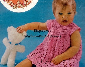 Baby Dress Vintage Crochet Pattern Baby Girls Sundress DK Crochet Pattern Crochet Dress Pattern Instant Digital Download PDF - 2009