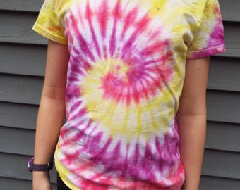 Hippie Tie Dye Shirt, Ladies Small, Womens Tie Dye, Ladies Cut TShirt, Hippie Women, Boho Shirt, Ladies Tshirt, Small Tie Dye Tee, Hand-dyed