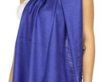 Royal blue wedding shawl - royal blue wedding pashmina - royal blue bridal shawl