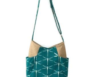 Hobo Bag Purse, Crossbody Hobo Bag, Dragonfly Purse, Gift for Her, Teen Purse, Crossbody Handbag, Dragonfly, Gift Mom