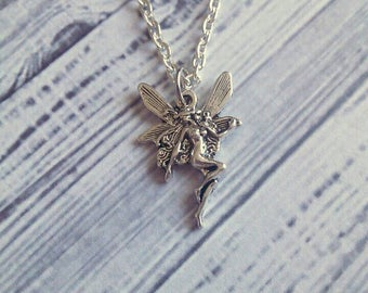 "Cute Kawaii Silver Fantasy Fairy Necklace 15"" - Choose Your Own Chain"