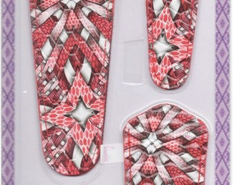 Scissor sheaths -VALUE PACK-4 sizes/pk-Designer Cover w/ScissorGripper Sewing Quilting.Awesome Red Quilting Blast Print. S-56.Free Shipping.