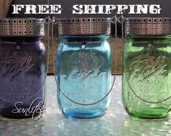 12 Solar Lantern Lids and Hangers *** FREE SHIPPING *** You supply jars :)