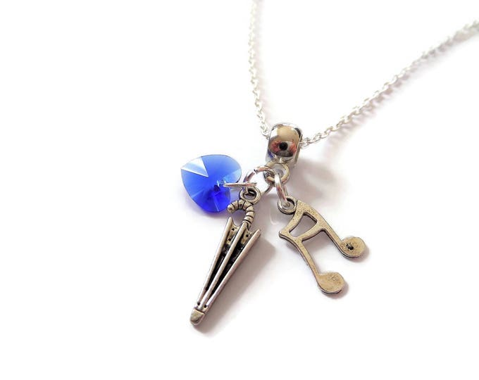 Singing in the Rain necklace, umbrella necklace, musical necklace, theatre gift, music gift,  theater favors, musical gift, sandykissesuk