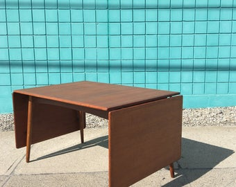 Hans Wegner | Danish Modern Teak + Oak Desk Table | Andreas Tuck