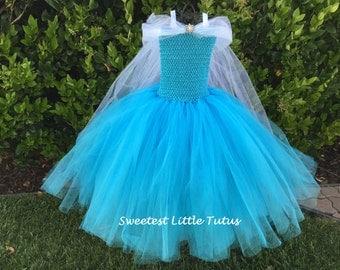 Snowflake Princess Tutu Dress/ Elsa Tutu Dress/ Elsa Dress/ Elsa Costume/ Elsa Birthday Dress