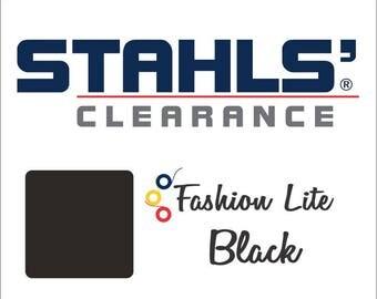 "12"" x 19"" - 15 Craft Sheets - Stahls' Fashion Lite - Smooth – Iron-on - Heat Transfer Vinyl - HTV - Black"