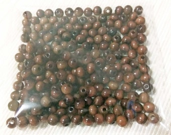 SALE, 210 x Tagua 5mm round beads, Brown, Natural beads, Eco friendly, Hand made, Jewellery supplies