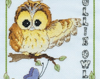 DMC BL862/65 Ollie Owl Woodland Folk Cross Stitch Kit