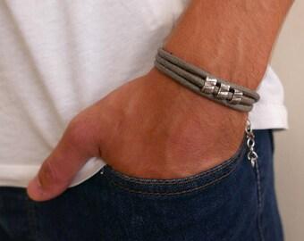 Men's Bracelet - Men's Beaded Bracelet - Men's Vegan Bracelet - Men's Jewelry - Men's Gift - Boyfriend Gift - Husband Gift - Guys Bracelet