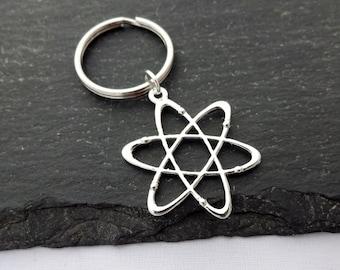 Atom Keyring, Science Keyring, Atom Keychain, Science Gifts, Charm, Geek Gifts, Science Keychain,Science Student,Atom Gift,Physics,Chemistry