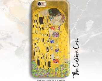 The Kiss Iphone Case, Gustav Klimt, The Kiss, Woman in Gold, Fine Art, Iphone X Case, Iphone 8 and Samsung Cases