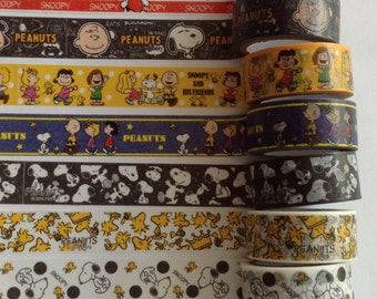 WS42: Snoopy and Friends Washi Tape Samples, 24 Inches, FREE Samples  Available, Washi, Planner Decorations, Scrapbooking