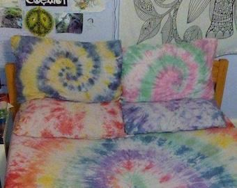Custom Tie Dye Cotton Pillow Cases