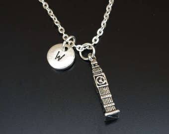 Big Ben Necklace, Big Ben Charm, Big Ben Pendant, Big Ben Jewelry, London Tower Necklace, London Tower Charm, Clock Tower, London Landmark