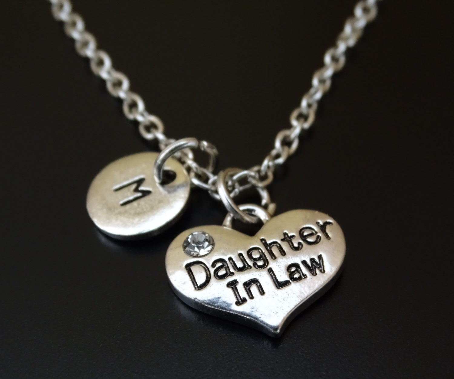 daughter in law necklace daughter in law charm daughter in