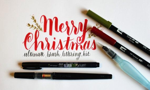 Ultimate brush lettering supply kit calligraphy pen