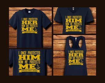 I Once Protected (Her/Him) Navy Shirts