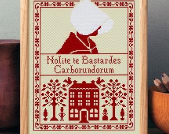 The Handmaid's 'Tale Nolite te Bastardes Carborundorum' Cross Stitch Pattern